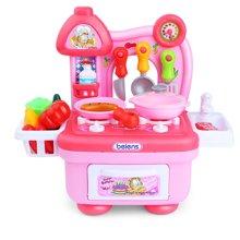 贝恩施儿童过家家厨房玩具 宝宝做饭煮饭益智玩具