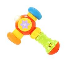 贝恩施音乐小锤子玩具 宝宝0-1岁声光敲敲锤