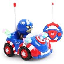 漫威美国队长Q版遥控车玩具男孩卡通儿童电动摇控车宝宝遥控汽车
