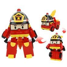 迷你变形警车 救援队救护车机器人儿童变形玩具小孩六件套礼物ABB83168-DH
