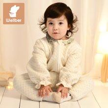威尔贝鲁 纯棉婴儿睡袋 夏季宝宝分腿睡袋新生儿童防踢被春秋薄款