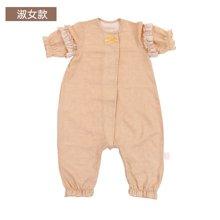 威尔贝鲁 竹纤维婴儿宝宝纱布分腿睡袋 夏季薄款新生儿童防踢被