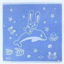 海勒兔 宝宝浴巾婴儿无捻毛巾被新生儿纯棉盖毯柔软吸水空调毯