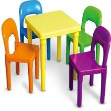 儿童桌椅幼儿园桌椅子宝宝学习桌椅塑料游戏桌子画画桌子一桌二椅-3件套
