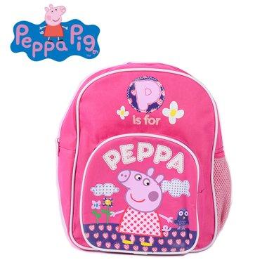 小猪佩奇刺绣斜跨包粉红猪小妹佩佩猪女孩可爱卡通儿童幼儿园书包