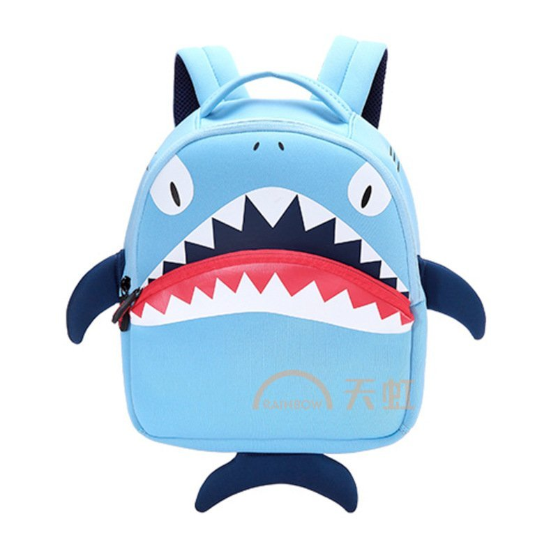 芃拉超轻环保太空棉动物立体3d鲨鱼幼儿园小孩效外旅行男女儿童背包