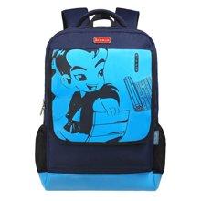 孔子书包3年级-初中生 小学生书包 儿童书包 安全反光条 加大翻盖防水双肩背包K504