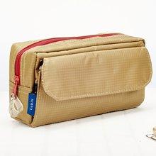 上品汇方形尼龙多功能收纳笔袋纯色简约大容量笔袋学生男女铅笔袋