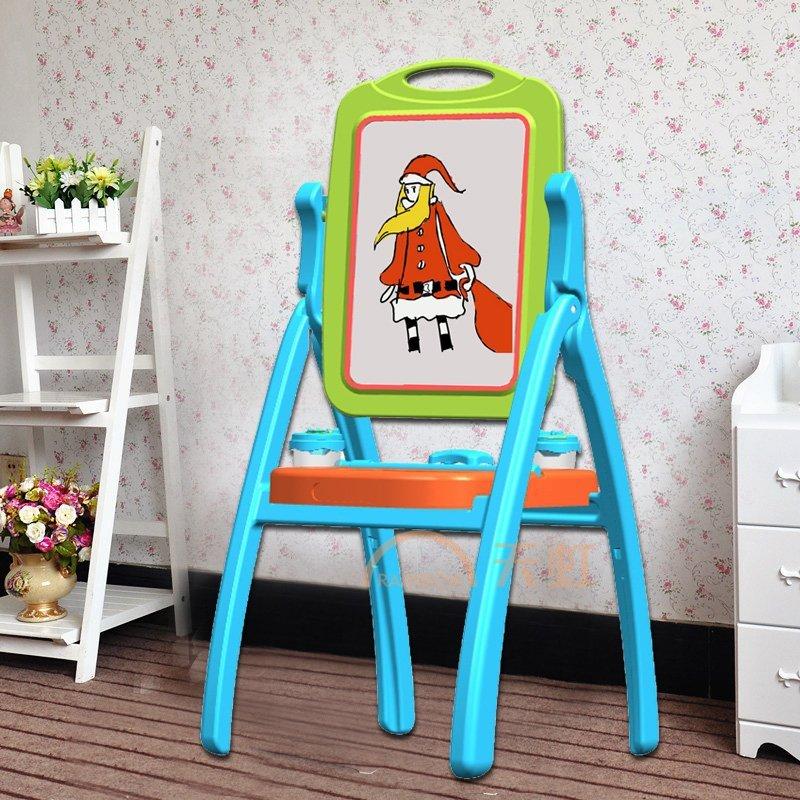 小学生儿童画板画架双面写字板玩具宝宝彩色涂鸦支架式小黑板-男款