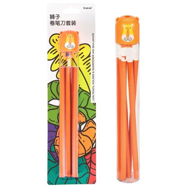 上品汇创意动物卷笔刀套装小学生儿童集屑环保干净省力卷笔器铅笔套装