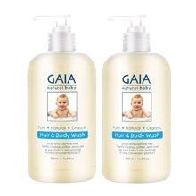 【2瓶】澳洲GAIA 婴儿洗发沐浴二合一 500ml