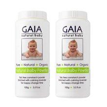 【2瓶】澳洲GAIA 婴儿爽身痱子粉 100g