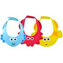 婴侍卫儿童浴帽防水洗澡帽 婴儿洗头帽儿童浴帽可调节太阳帽颜色随机YSWS602