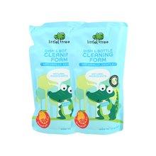 英国小树苗婴幼儿清洁液萄葡柚泡沫奶瓶果蔬清洁液(补充包)500ml*2