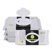 宜悦厨房湿巾40抽*4包加盖抽取湿纸巾去污吸油厨房用纸