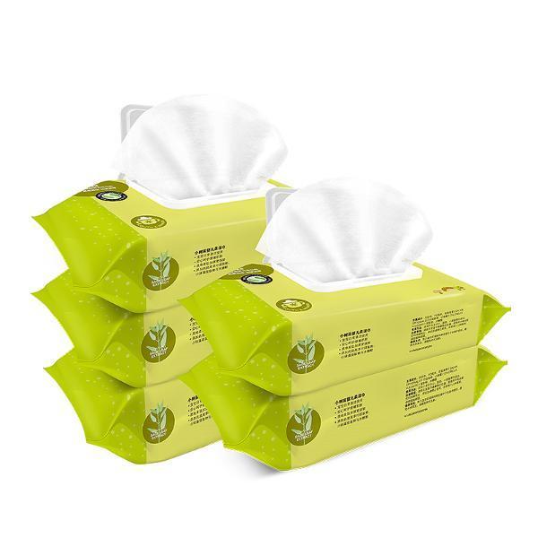 【婴儿湿巾80抽×5包】小树苗婴幼儿湿巾宝宝用湿巾80抽5包