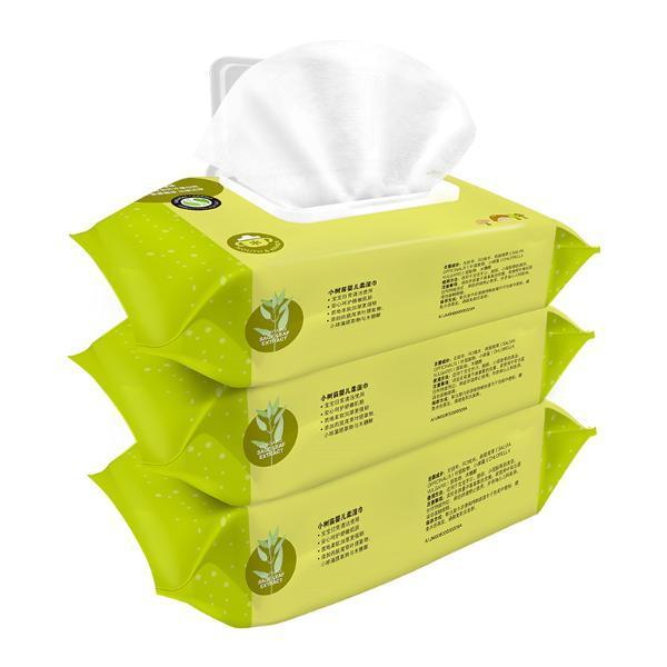 【婴儿湿巾80抽×3包】小树苗婴幼儿湿巾宝宝用湿巾80抽3包