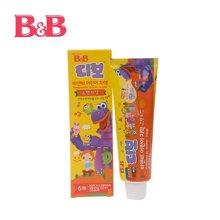 韩国保宁B&B 儿童护齿牙膏 香橙味 90g【买2支发3支】