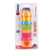【美国】Sassy 宝宝婴儿奶粉盒 儿童零食盒 外出分装罐 四层大容量