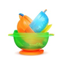 【美国】Munchkin麦肯齐 宝宝吸盘碗 婴儿辅食碗 3只一套