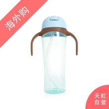 日本Pigeon贝亲企鹅吸管杯训练杯带手柄蓝色(330ml)
