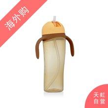 日本Pigeon贝亲企鹅吸管杯训练杯带手柄黄色(330ml)