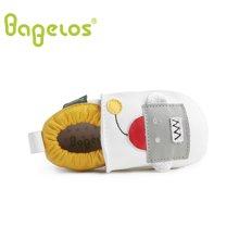 巴贝乐babelos童鞋秋季新款羊皮婴儿鞋宝宝鞋 卡通机器人学步鞋男女同款0-1-2岁B31711074