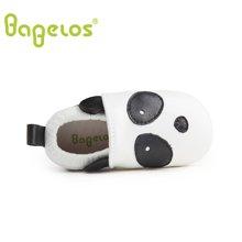 巴贝乐babelos童鞋秋季新款羊皮婴儿鞋宝宝鞋 童趣小熊猫学步鞋男女同款0-1-2岁B31711073