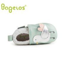 巴贝乐babelos童鞋秋季新款羊皮婴儿鞋宝宝鞋童趣小鸟学步鞋男女同款0-1-2岁B31711073
