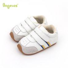 巴贝乐babelos新款春秋季软底防滑宝宝鞋牛皮学步鞋男女婴儿室内鞋0-1-2岁B31712067