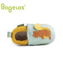 巴贝乐babelos童鞋秋季新款羊皮婴儿鞋宝宝鞋 卡通小松鼠学步鞋男女同款0-1-2岁B31711074