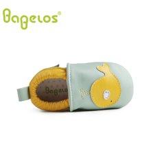 巴贝乐babelos童鞋秋季新款羊皮婴儿鞋宝宝鞋 卡通小鱼学步鞋男女同款0-1-2岁B31711074