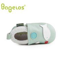 巴贝乐babelos童鞋秋季新款羊皮婴儿鞋宝宝鞋童趣小鱼学步鞋男女同款0-1-2岁B31711073