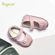 巴贝乐babelos秋季新款软底宝宝鞋羊皮学步鞋防滑婴儿鞋公主小皮鞋0-1-2岁B11810115