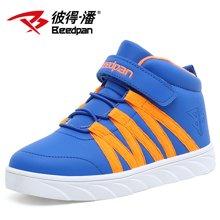 彼得潘男童运动鞋冬季新款保暖休闲中邦运动鞋儿童棉鞋P518