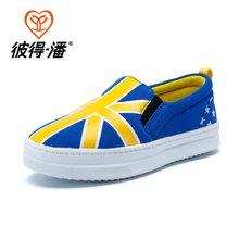 彼得潘童鞋春秋儿童板鞋男童休闲帆布鞋学生潮鞋中小童运动鞋P287
