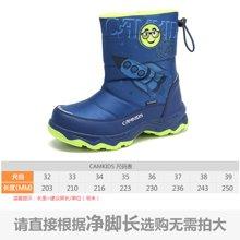 camkids垦牧童鞋儿童棉靴冬季新款男中大童保暖防滑雪地靴