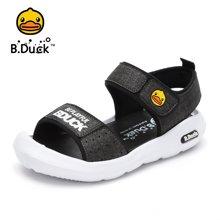 B.DUCK小黄鸭童鞋男童凉鞋2018夏季新款儿童皮凉鞋沙滩鞋露趾凉鞋B2995999