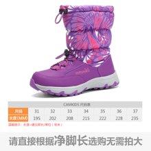 camkids垦牧童鞋儿童雪地靴棉靴冬新款保暖女童靴中大童棉鞋