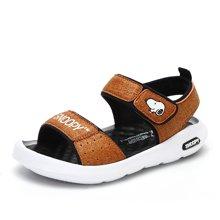 SNOOPY 史努比  童鞋男童凉鞋2018夏季新款男童露趾凉鞋儿童宝宝沙滩鞋 S8125840 包邮