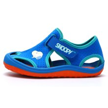 SNOOPY 史努比 童鞋2018新款夏季儿童包头透气凉鞋男女童软底防滑沙滩鞋 S8125834 包邮