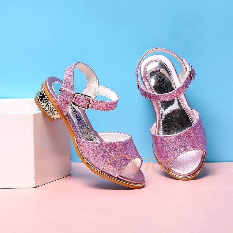 小叮当女童凉鞋新款夏季韩版中小童公主鞋学生鞋儿童单鞋潮鞋db70521