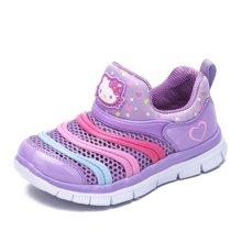 HELLO KITTY童鞋凯蒂猫女童单网运动鞋2018夏季新款儿童透气毛毛虫鞋子K7523801