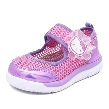 HELLO KITTY童鞋凯蒂猫女童运动鞋2018夏季新款儿童单网鞋透气休闲鞋K7523805