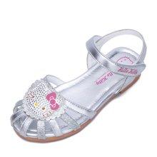 HELLO KITTY童鞋女童凉鞋镂空包头透气凉鞋公主鞋沙滩鞋K7625830