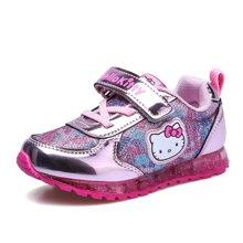 HELLO KITTY童鞋女童2018款亮面迷彩风运动鞋休闲鞋板鞋K632X46
