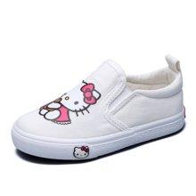 HELLO KITTY童鞋女童新款一脚蹬凯蒂猫头像帆布鞋休闲鞋K6330609