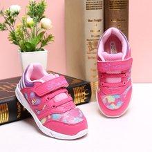 小叮当女童休闲运动鞋新品韩版休闲儿童运动鞋学生跑步鞋D683613