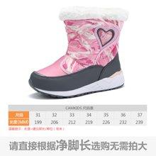 camkids垦牧儿童棉靴冬季新款女童中大童防寒户外雪地靴