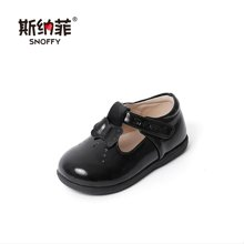 斯纳菲女童鞋2018新款宝宝鞋软底防滑学步鞋1-2-3岁小童鞋子春秋皮鞋18624